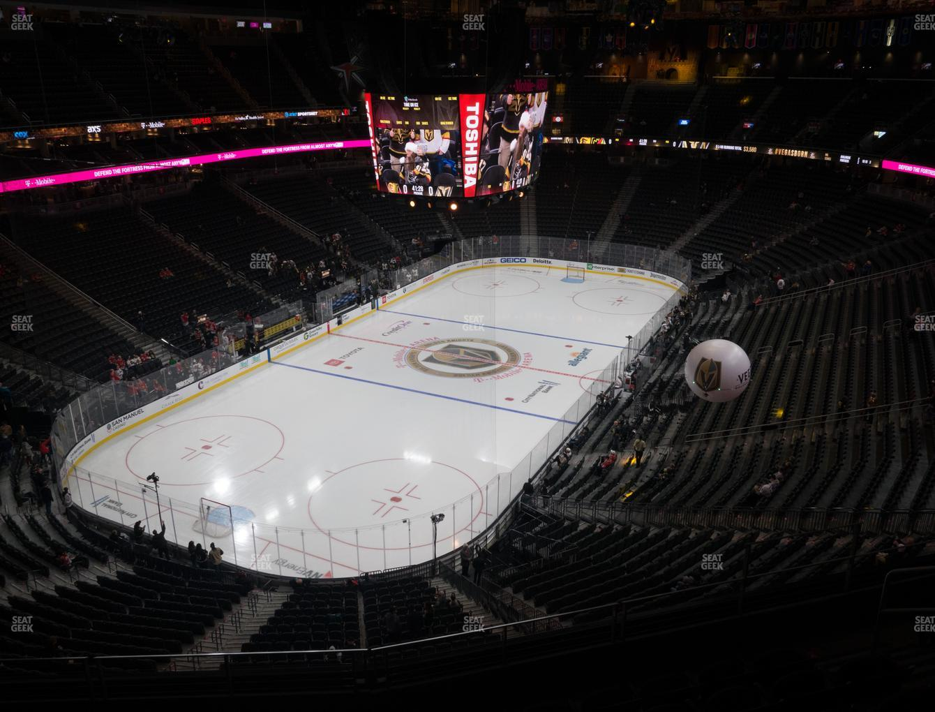 Vegas Golden Knights at T-Mobile Arena Section 217 View