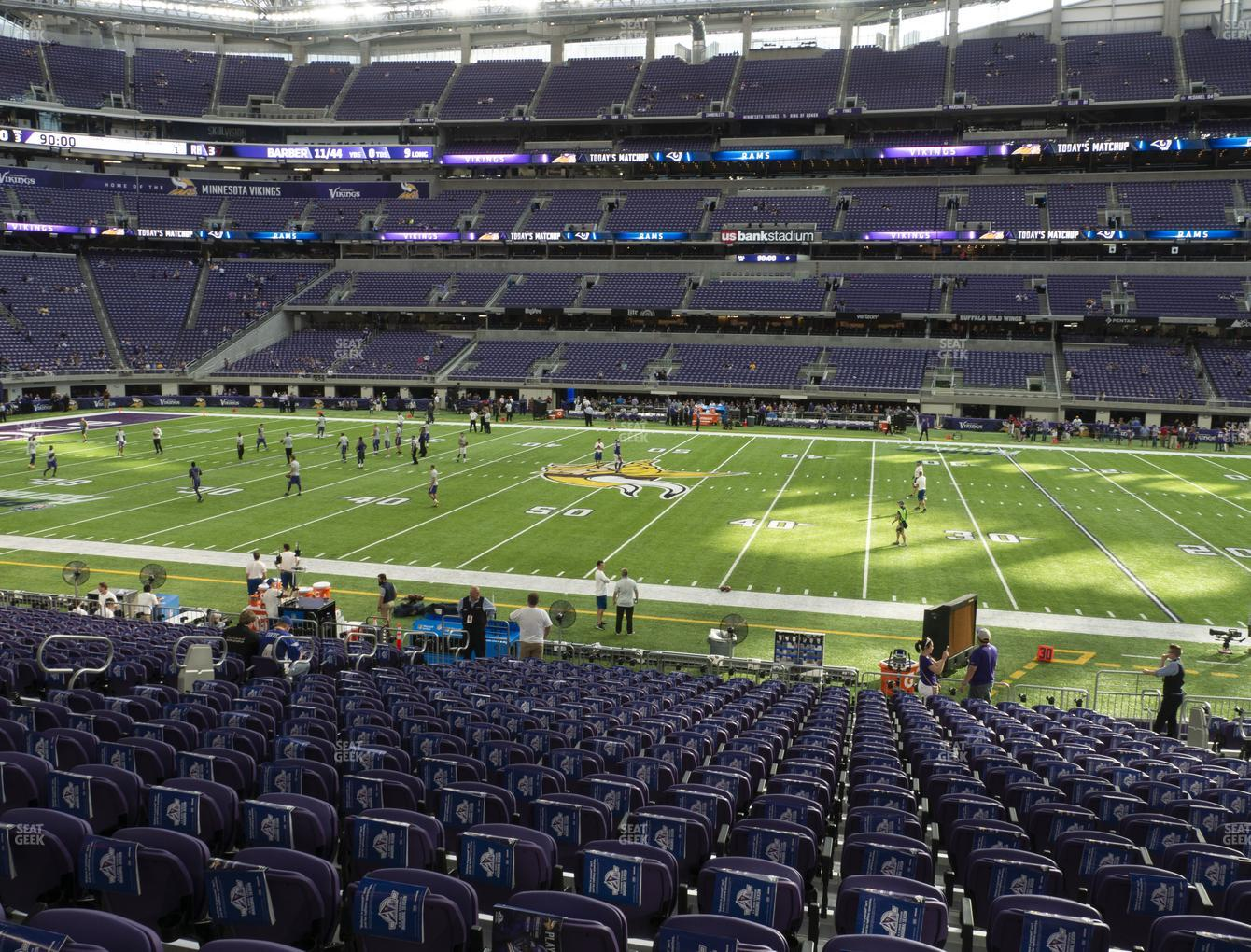 Minnesota Vikings at U.S. Bank Stadium Section V 2 View