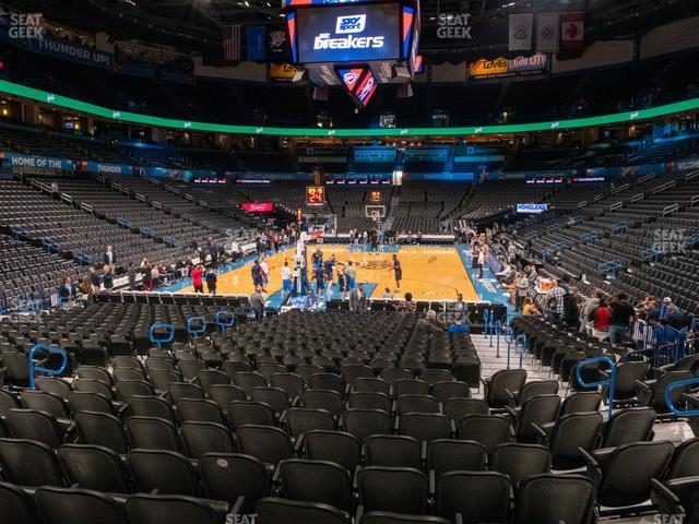 Chesapeake Energy Arena Section 120 view