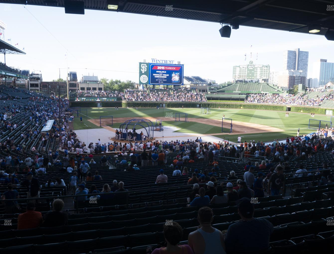 Chicago Cubs at Wrigley Field Section 220 View