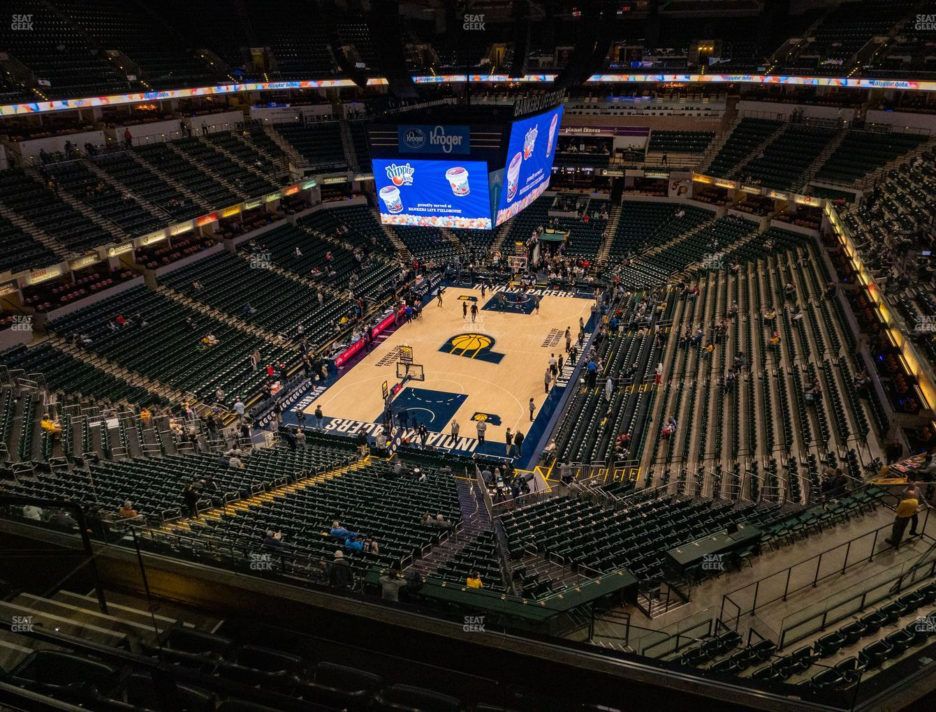 Indiana Pacers at Bankers Life Fieldhouse Section 231 View