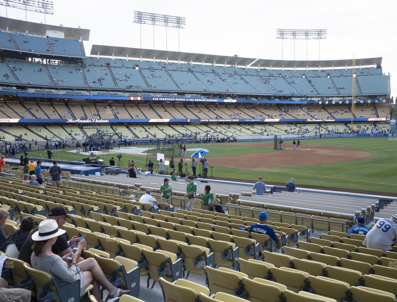 Los Angeles Dodgers at Dodger Stadium Field Box 34 View