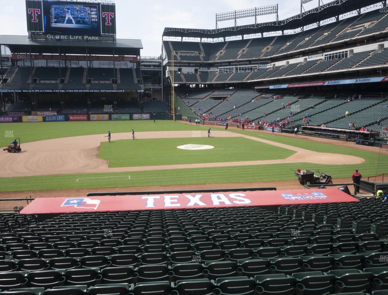 Texas Rangers at Globe Life Park Section 19 View