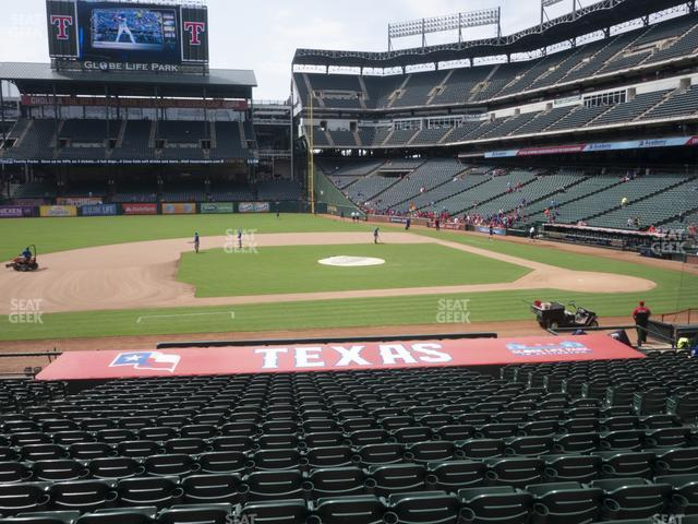 Globe Life Park Section 19 view