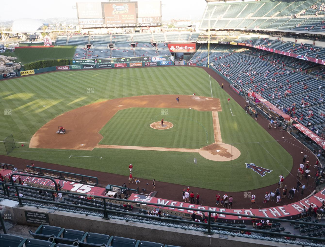 Los Angeles Angels at Angel Stadium of Anaheim Section 414 View