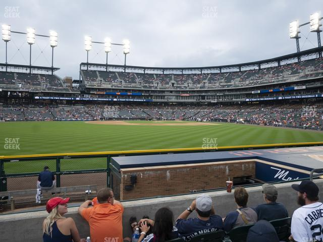 Comerica Park Section 150 view