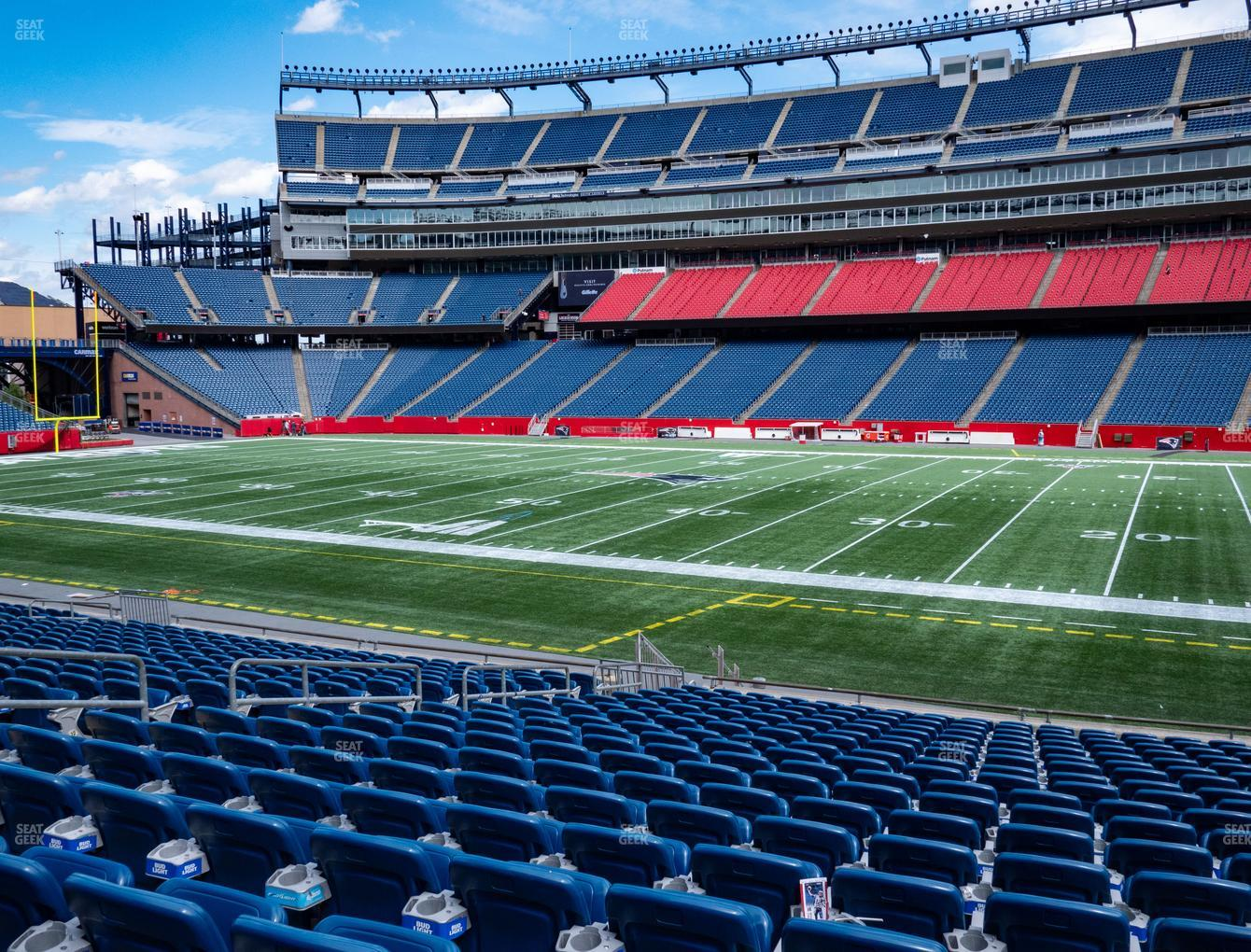 New England Patriots at Gillette Stadium Section 129 View