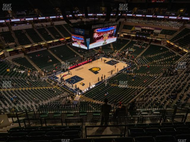 Bankers Life Fieldhouse Section 228 view