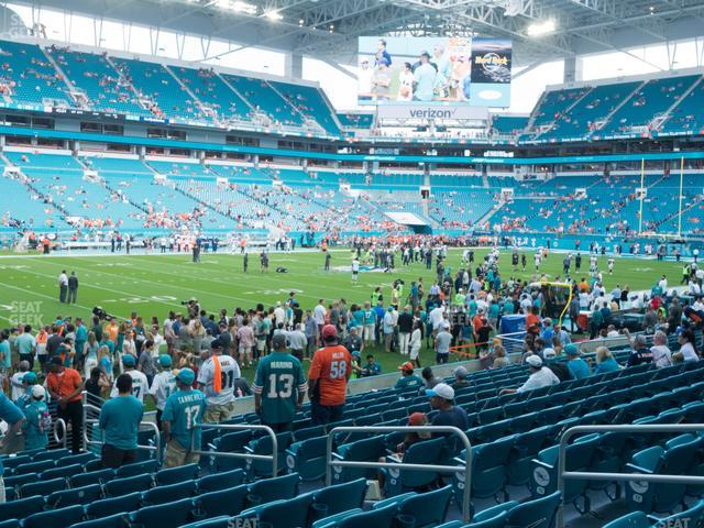 Hard Rock Stadium Section 150 view