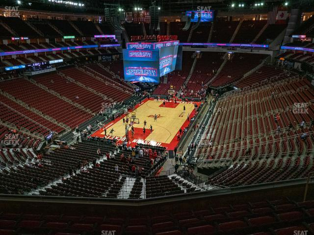 Toyota Center Section 416 view