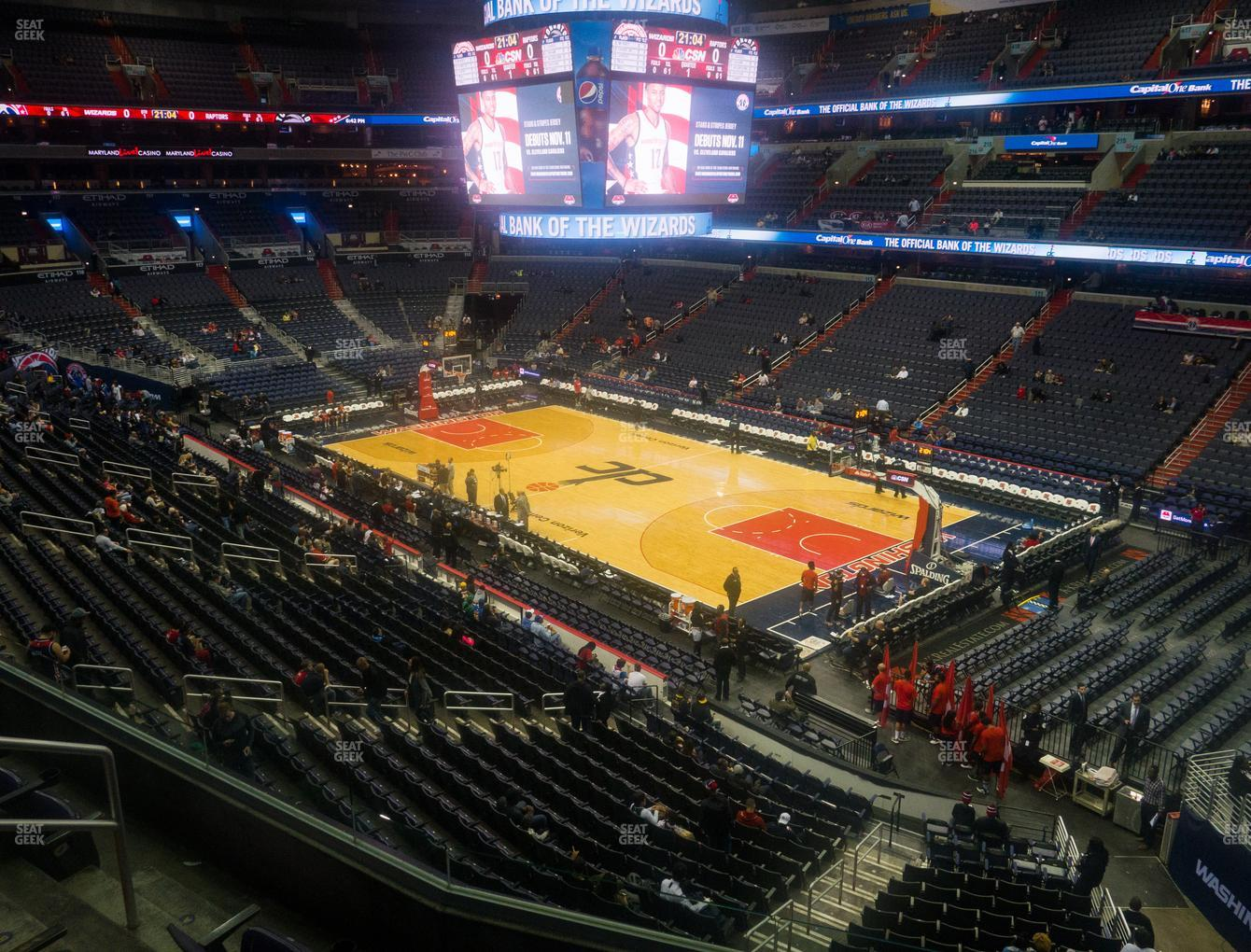 Washington Wizards at Capital One Arena Section 204 View
