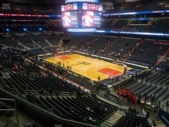 Capital One Arena Section 204 view