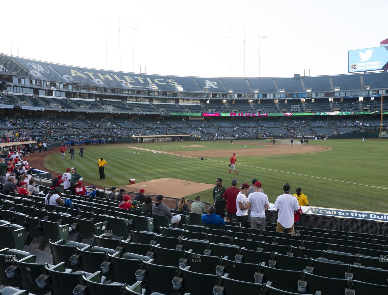 Oakland Athletics at RingCentral Coliseum Section 106 View