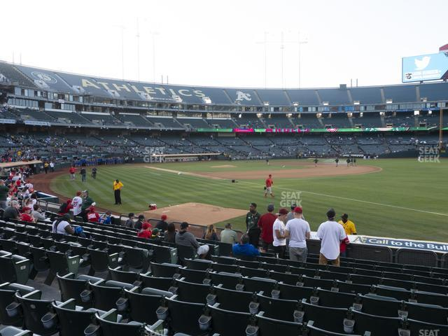 Oakland-Alameda County Coliseum Section 106 view