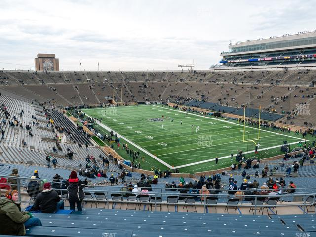 Notre Dame Stadium Section 122 view