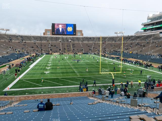 Notre Dame Stadium Section 2 view