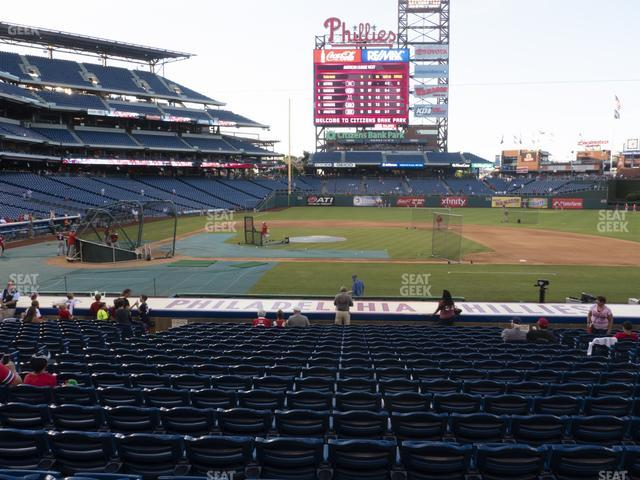 Citizens Bank Park Section 117 view