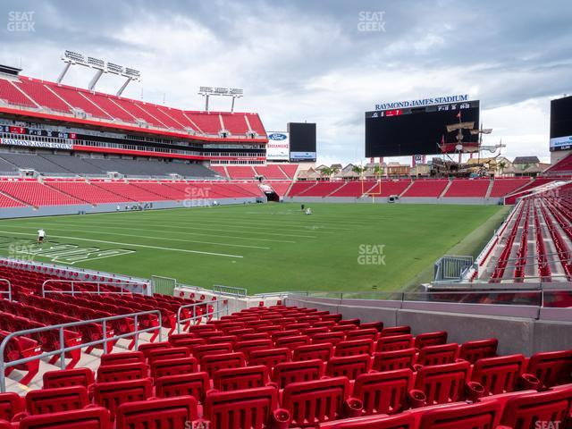 Raymond James Stadium Section 127 view