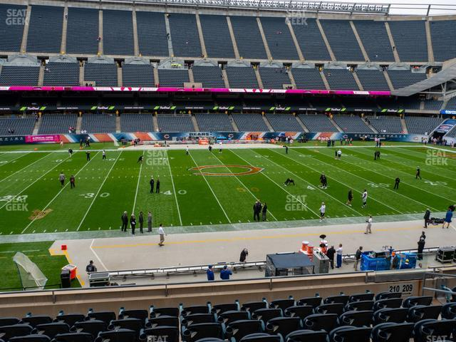 Soldier Field Section 210 view
