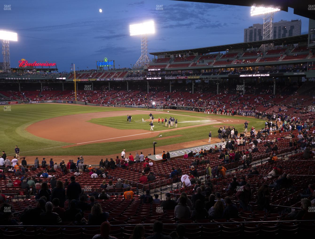 Boston Red Sox at Fenway Park Infield Grandstand 29 View