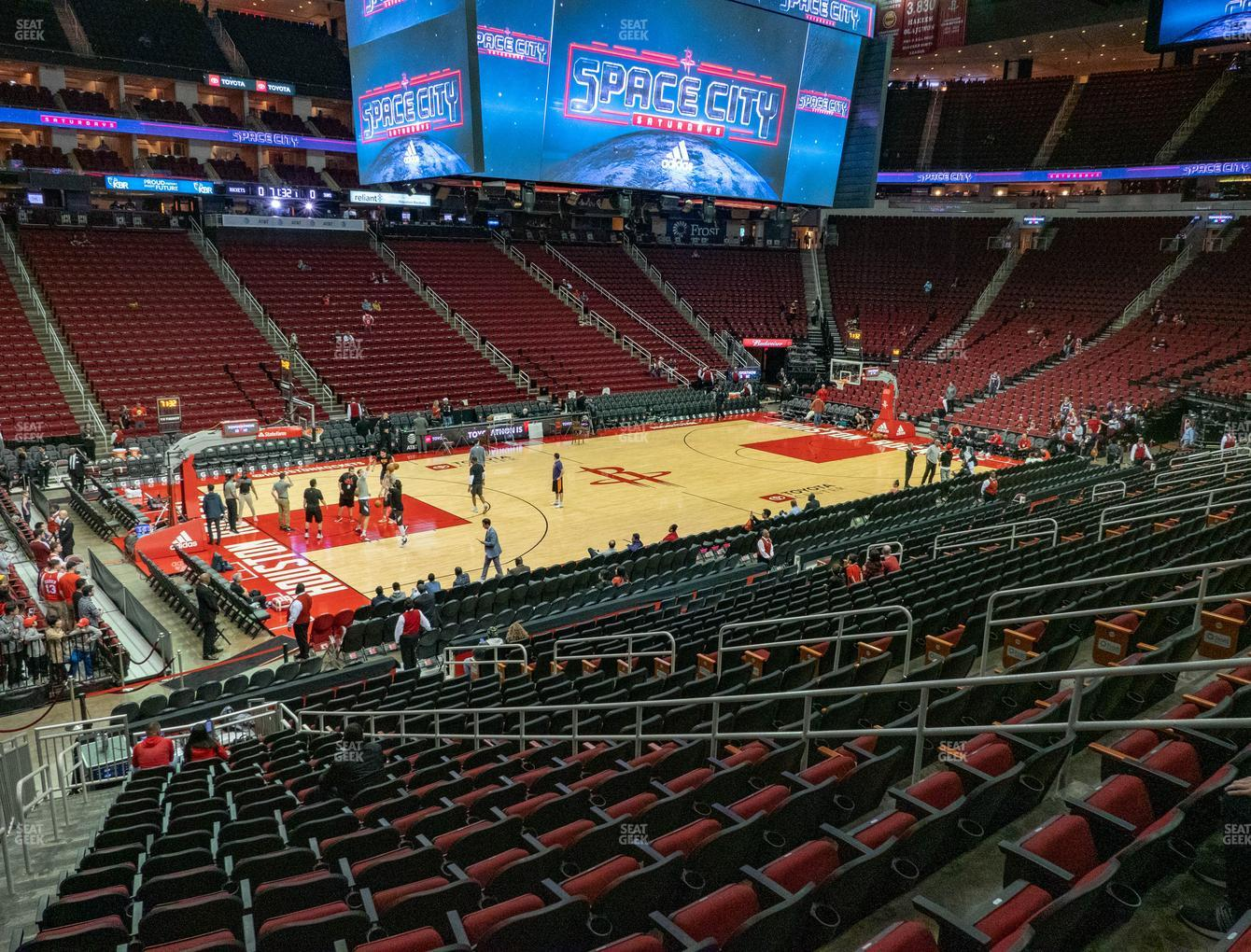 Houston Rockets at Toyota Center Section 110 View