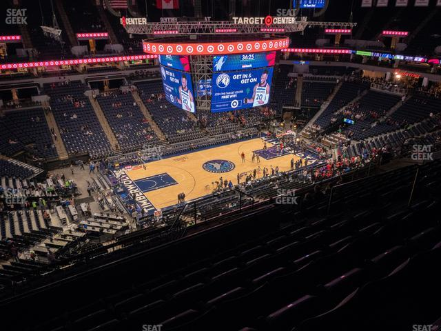 Target Center Section 234 view
