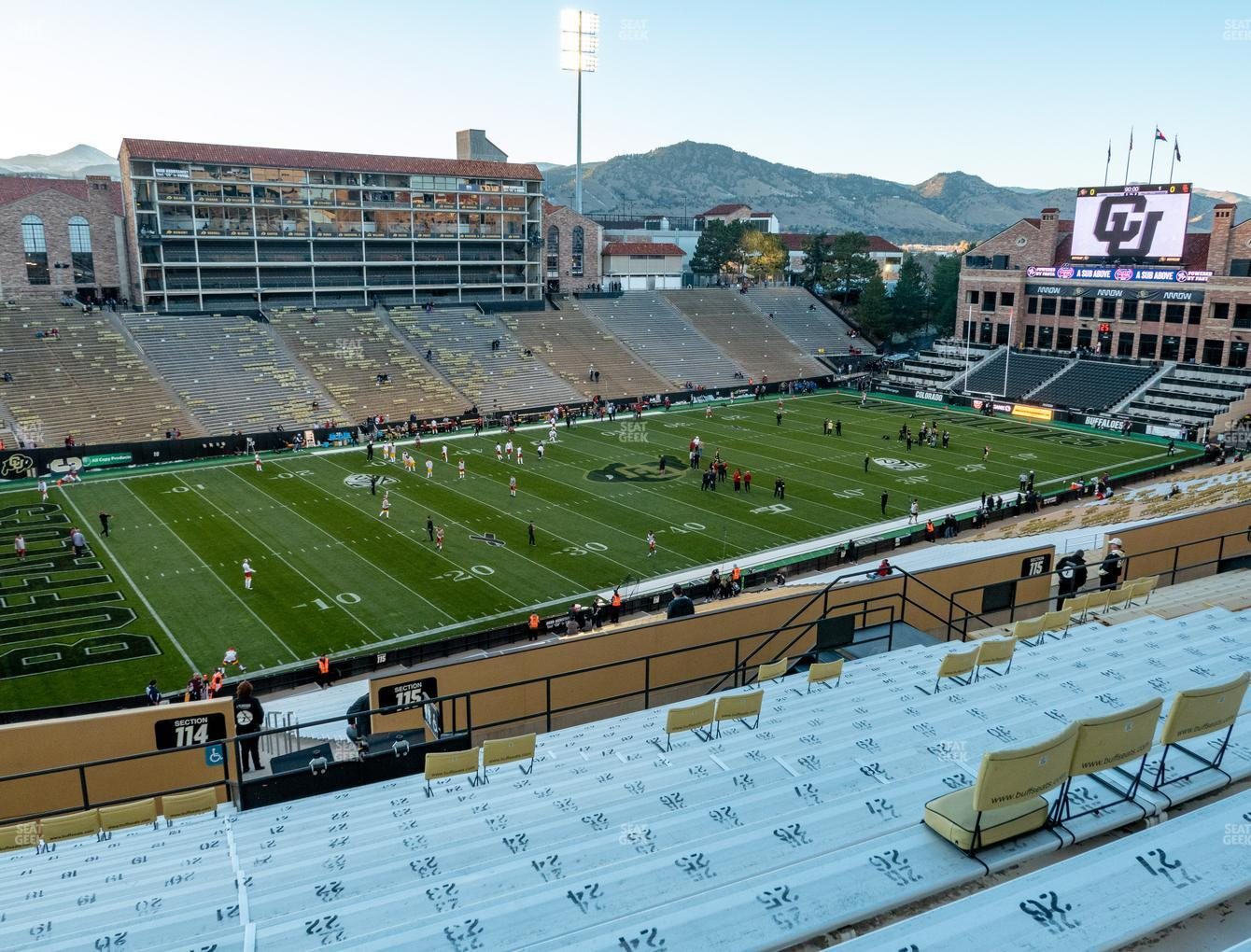 Colorado Buffaloes Football at Folsom Field Section 215 View