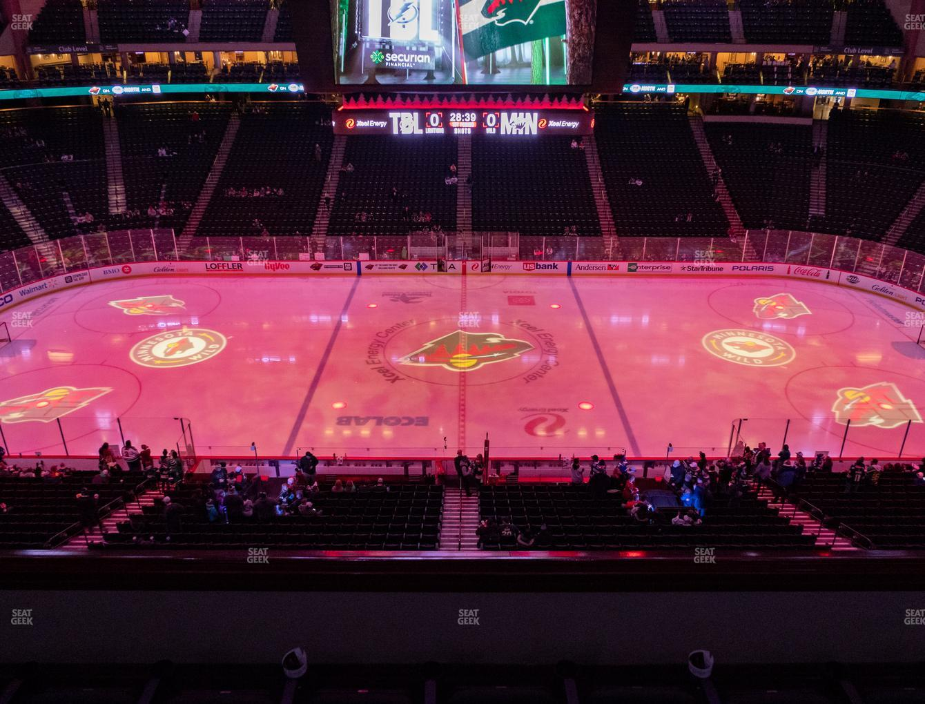 Minnesota Wild at Xcel Energy Center Section Club 26 View