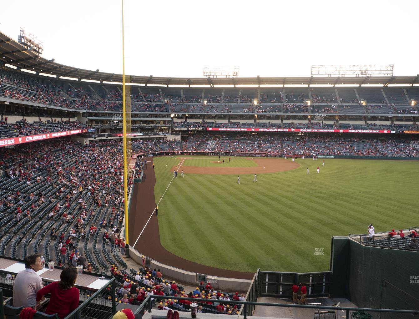 Los Angeles Angels at Angel Stadium of Anaheim Section 241 View