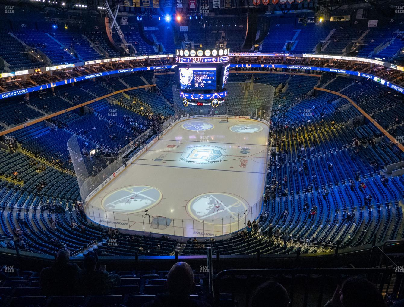 Buffalo Sabres at KeyBank Center Section 326 View