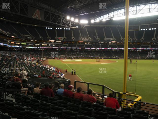 Chase Field Section 107 view