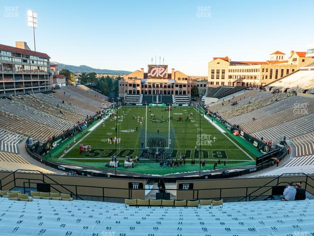 Folsom Field Section 209 view
