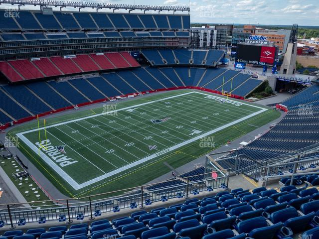 Gillette Stadium Section 316 view