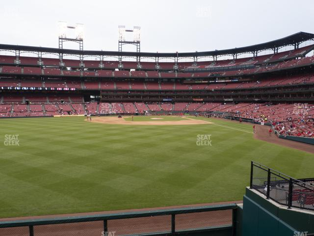Busch Stadium Lower Left Field Bleachers 189 view