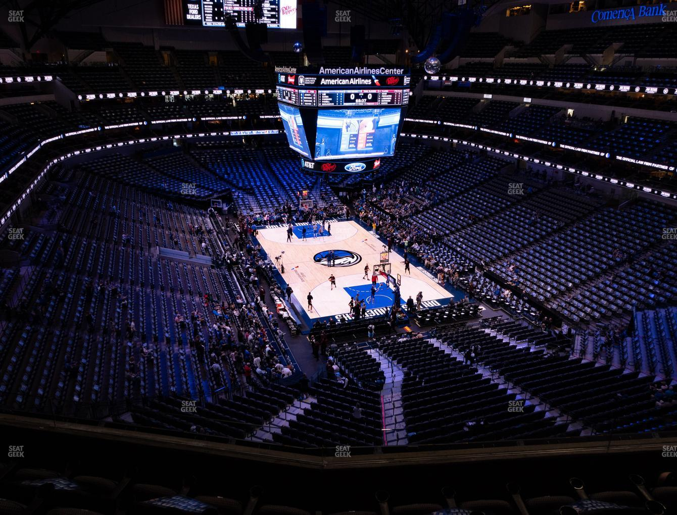 Dallas Mavericks at American Airlines Center Section 320 View
