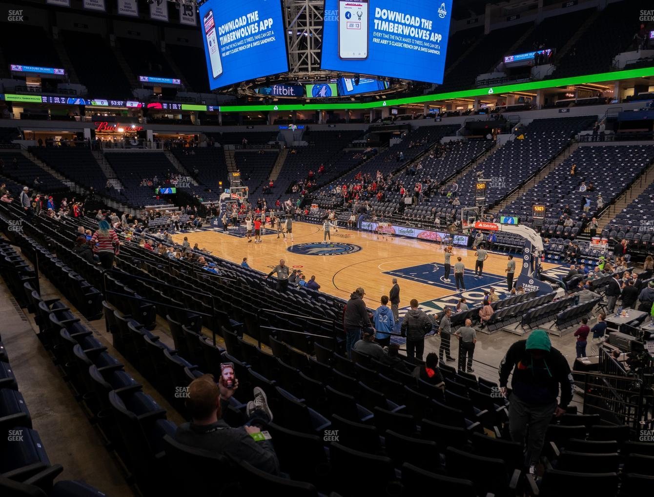 Minnesota Lynx at Target Center Section 106 View