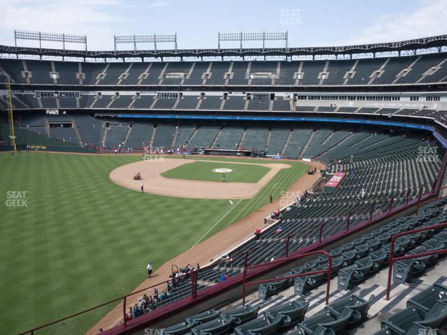 Globe Life Park Section 210 view
