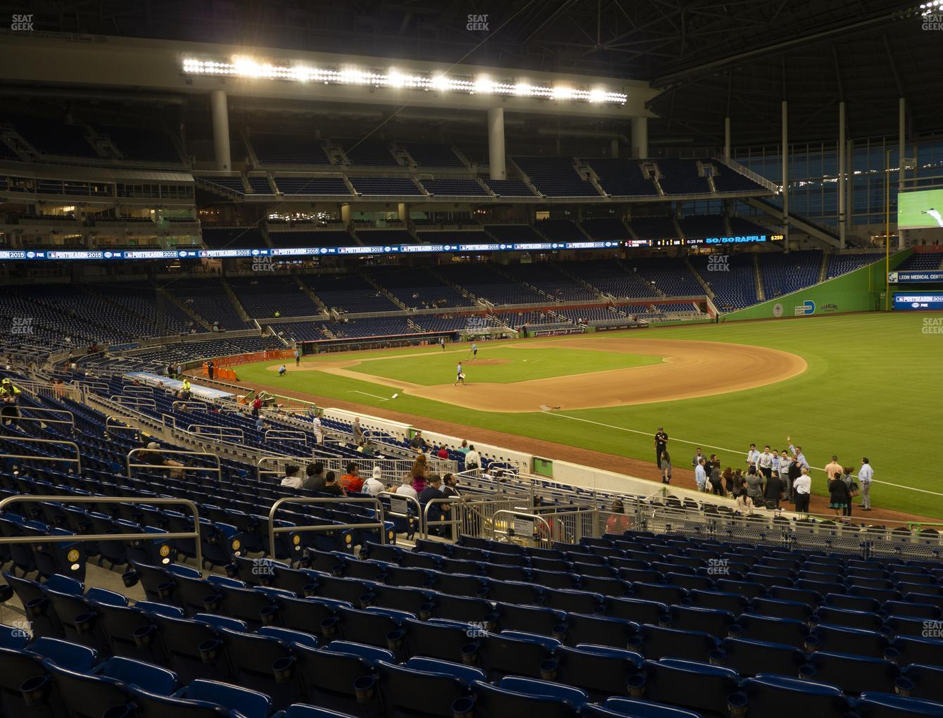 Miami Marlins at Marlins Park Section 4 View