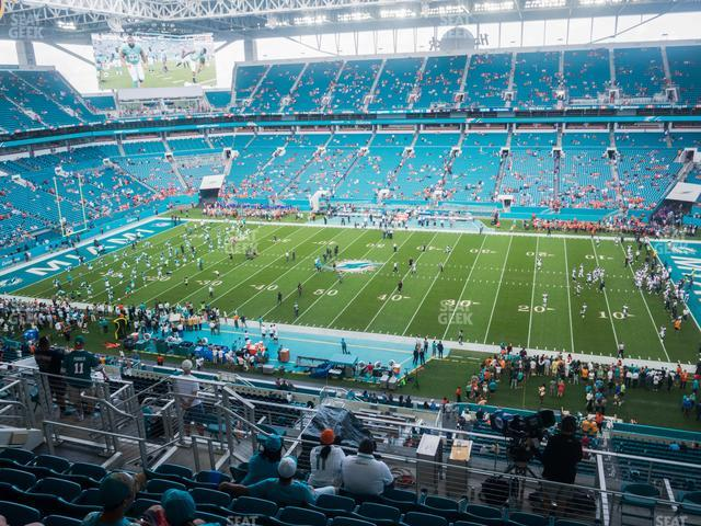 Hard Rock Stadium Section 344 view