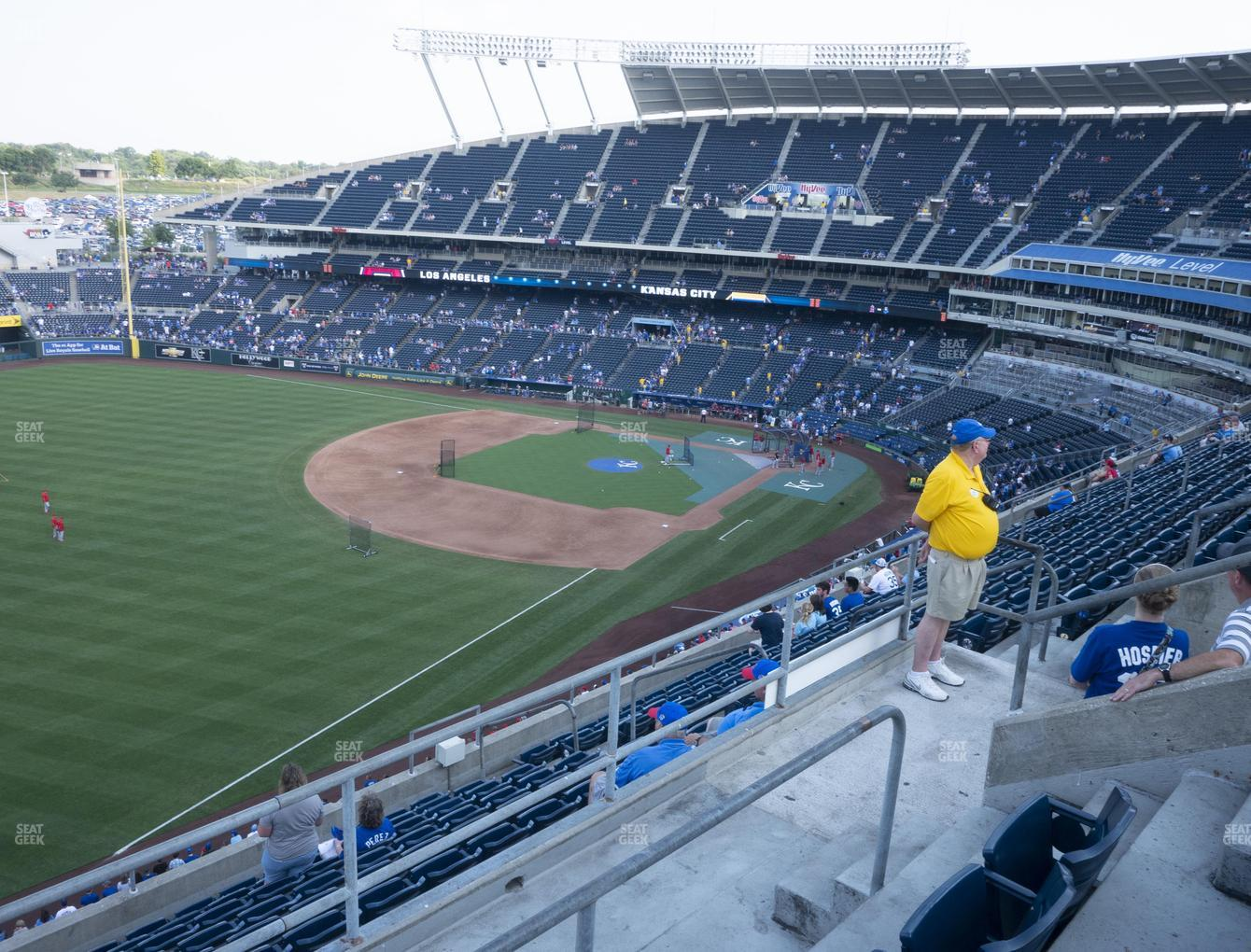 Kansas City Royals at Kauffman Stadium Section 402 View