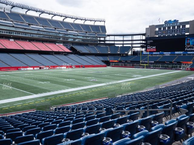 Gillette Stadium Section 137 view
