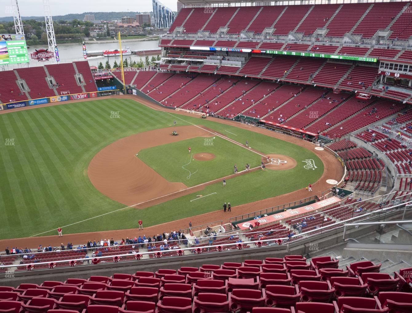 Cincinnati Reds at Great American Ball Park Section 515 View