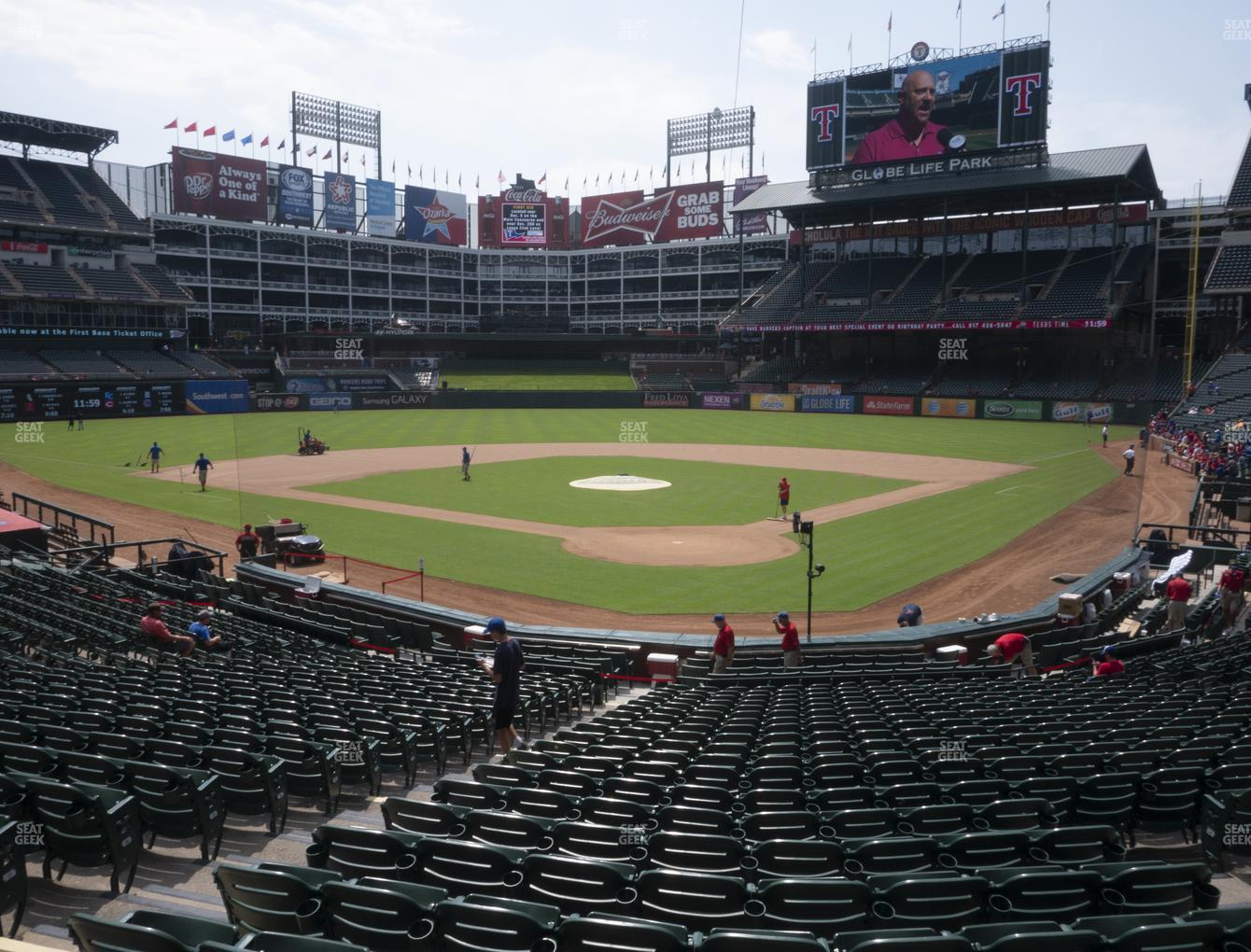 NHL at Globe Life Park Section 25 View