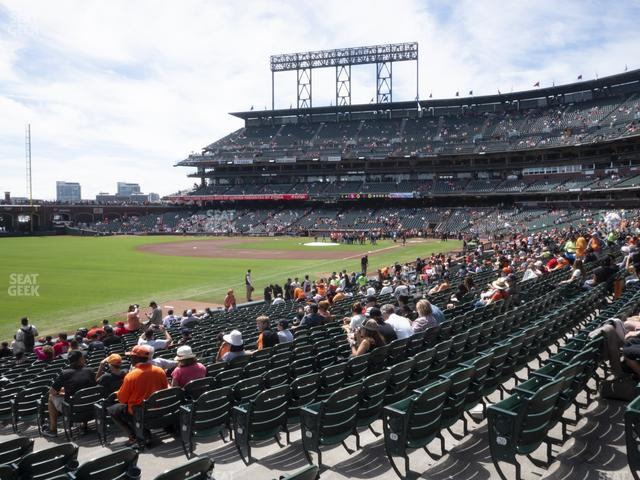 Oracle Park Section 131 view
