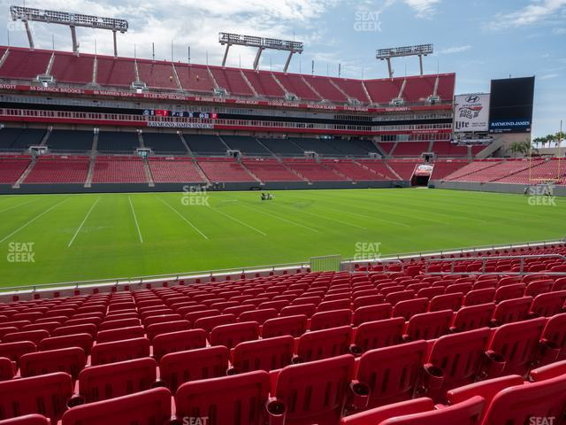 Raymond James Stadium Section 109 view