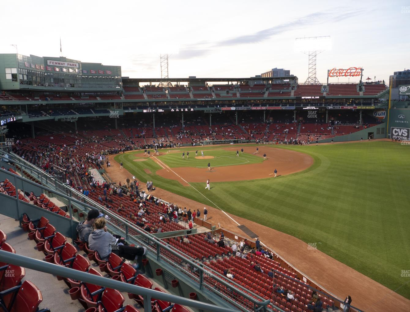 Boston Red Sox at Fenway Park Right Field Roof Box 31 View