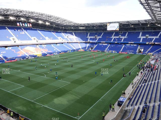 Red Bull Arena Section 215 view