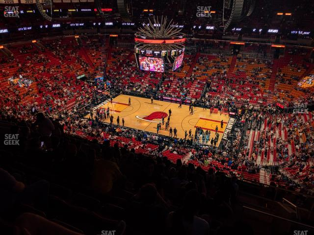 American Airlines Arena Section 307 view