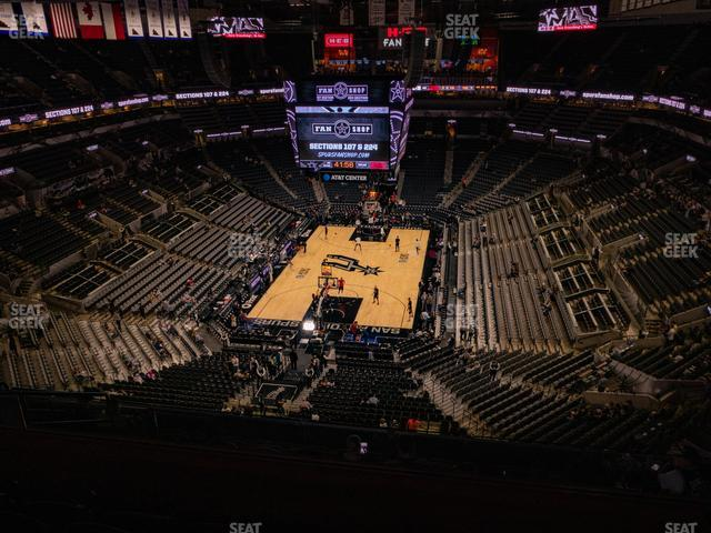 AT&T Center Section 231 view