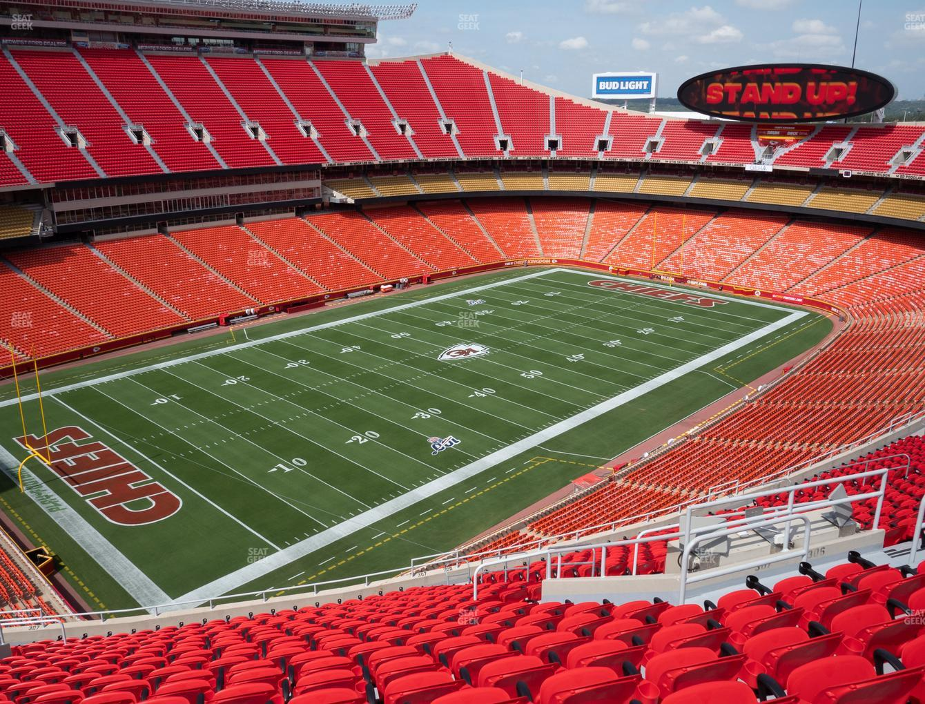 Arrowhead Stadium Section 307 Seat Views Seatgeek If a player pierces themselves with the arrow, they will obtain a stand. arrowhead stadium section 307 seat